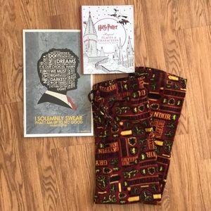 Harry Potter L PJ pants, Coloring Book, And Print